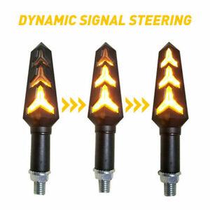 2PCS LED Turn Signal Lights 10mm Bolt Lamp Universal For Motorcycle ATVBike