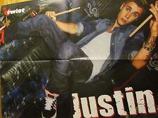 Justin Bieber, Austin Mahone, Double Four Page Foldout Poster