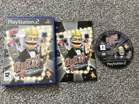 BUZZ THE HOLLYWOOD QUIZ SONY PLAYSTATION 2 PS2 GAME WITH MANUAL UK PAL VGC