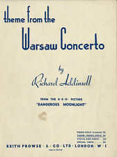 Theme from the WARSAW CONCERTO Sheet Music ~ By Richard Addinsell ~ Piano Solo