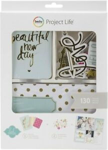 PROJECT LIFE * HEIDI SWAPP  Gold Foil Value Kit -  (130 Pieces)  Save 60% !