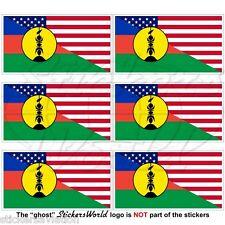 "USA United States America-NEW CALEDONIA Kanak Flag 40mm(1,6"") Stickers Decals x6"