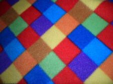 Harlequin print Polar fleece anti pill soft fabric