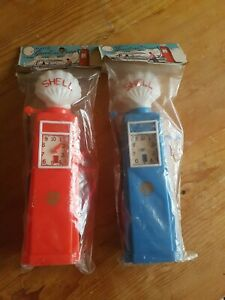 Vintage Plastic Hong Kong Toy Petrol Pumps