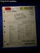 Sony Service Manual Mz R90/R91 Mini Disc Recorder (#4338)