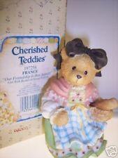 Cherished Teddies Claudette France 197254 Nib/passport Stamp *Free Usa Shipping