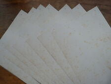 A3 ANTIQUE VINTAGE EFFECT plain paper 25 sheets single sided age-toned & foxed