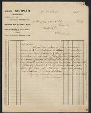 """BREUVANNES (52) USINE FROMAGERIE / GRUYERE EMMANTHAL & BEURRE """"Jean SCHWAB"""" 1927"""