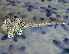 Dolly-Bijoux Fantaisie Pince à cheveux Fleur Pavé de Diamant Cz de 13 cm