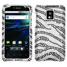 Zebra Crystal Bling Hard Case Cover for LG T-Mobile G2X