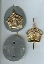 WWI:Kaiserl.Marine:Armabzeichen:Krone mit Gegenplatte. 1 Stück