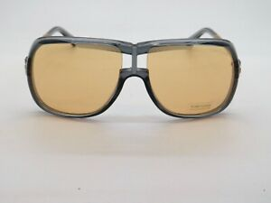 TOM FORD FT 0800/S 20E CAINE Grey-Gold/Yellow Authentic Sunglasses