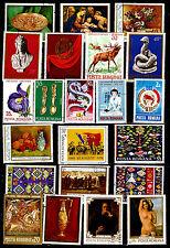 RUMANIA sellos grand formato: cuadros,Tapicería,CUADROS,flores, diversos D186
