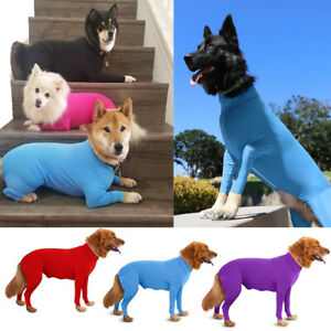 Pet Dog Long Sleeve Bodysuit Jumpsuit Alternative Dog Recovery Suit for Dog