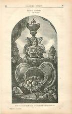 Nature morte à l'orfèvrerie par Alexandre-François Desportes GRAVURE PRINT 1878