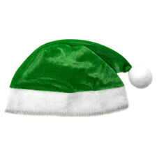 Child Green Plush Santa Hat ~ FUN XMAS, CHRISTMAS, HOLIDAY, COSTUME, PARTY HAT