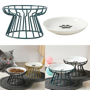 Pet Elevated Raised Bowl Ceramic Bowl Feeding and Drinking Bowls for Puppy
