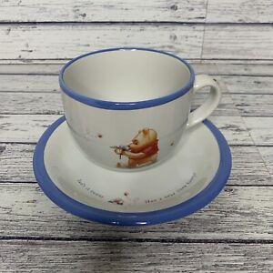 Disney Simply Pooh Large Soup  Coffee Mug & Lunch Plate Winnie the Pooh