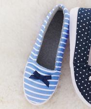 Ladies Cobalt Blue ballerina slipper shoes UK 5 by DAMART with bow trim