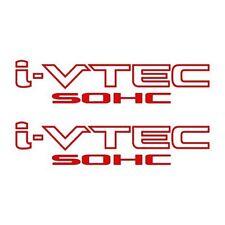 [#33] 2x RED i-VTEC SOHC Vinyl Decal Stickers Emblem Honda Acura ivtec