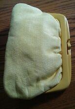 015 Vintage Yellow Made in Italy Clutch Purse Handbag No. 19