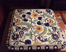 French Gien Colorful Porcelain Pottery SQUARE Faience France Vintage Trivet