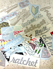 JDM, Race, Skate, Skateboard, Snowboard, 12 Random Decal Stickers Pack Lot 44D