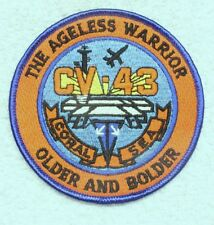 """USN Navy patch: USS Coral Sea CV-43 """"The Ageless Warrior"""""""