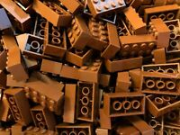 LEGO® 60 Stück Bausteine Basic Reddish Brown Brick 2 x 4 3001 Neuware