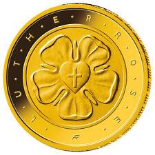 Deutschland 50 Euro Gold Lutherrose Reformation Goldmünze 2017 Prägebuchstabe G