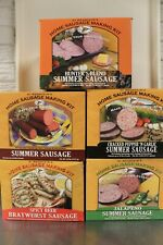 Hi Mountain Sausage Seasoning Kit Summer-Hunter-Garlic-Brats 12-15 lbs Deer Beef