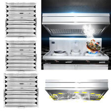 More details for 1/2/6pcs canopy baffle grease filter stainless steel kitchen extraction hoods uk