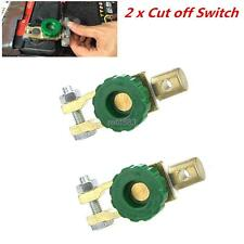 2x Car Van Boat Battery Terminal Disconnect Switch cut off power Link Automotive