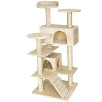 Tiragraffi per gatto gatti gioco gichi palestra albero sisal beige
