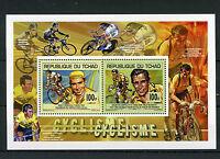 Chad Tchad 2013 MNH Cycling 2v Deluxe M/S Cyclisme Eddy Mercks Fausto Coppi