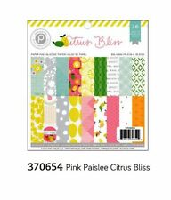"American Crafts 6""x6"" Paper Pad  ~ PINK PAISLEE ~ CITRUS BLISS ~ 36ct  ~ 370654"
