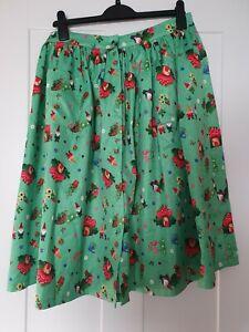 Lindy Bop 14 skirt gnome toadstool pattern 50s rockabilly style pockets retro