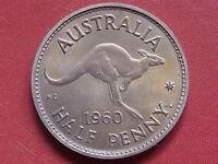 Australia  1960 Perth -  Halfpenny..  Proof - FDC