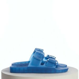 BALENCIAGA 425$ Men's Mallorca Slide Sandal In Clear Blue