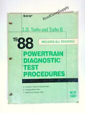 1988 Chrysler  2.2L Turbo Diagnostic Service Shop Manual LeBaron Daytona Shelby