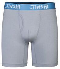 Men's Boxer Briefs Long Leg Soft Underpants Gray Color Slim Underwear Size XL