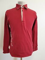 K944 WOMENS JOULES RED L/SLEEVE COTTON POLO T SHIRT UK 10 US 6