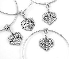 four sisters bracelet set Big little middle and baby sister bracelets bangles