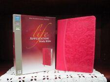 ** NIV 2011 ** Life Application Study Bible - Pink Leathersoft ** NEW !!   559