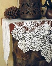 """Heritage Lace Woodland 20""""x 88"""" Mantle Scarf 100% Polyester Ecru"""