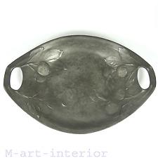 Kayserzinn Schale Zinn Anbietschale Zinnschale Pewter Bowl Jugendstil um 1900