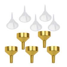 10x Small Plastic Metal For Perfume Diffuser Bottle Mini Liquid Oil Funnels