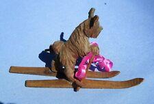 Anri Skye Silky Terrier Briard Dog On Skis Italy