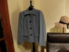 ROWLAND Jacket~ Pale Blue~ Button Front~ Size UK 12 ~ Wool & Cashmere