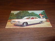 1963 Chevrolet Bel Air Four-Door Sedan Advertising Postcard